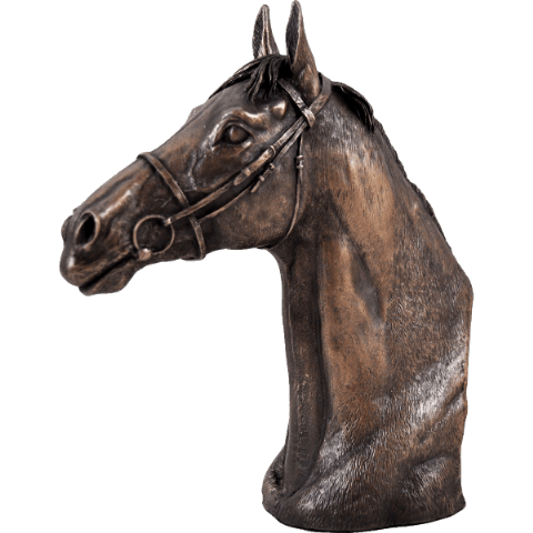 Thoroughbred Cold Cast Bronze Sculpture